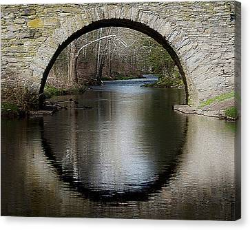 Stone Arch Bridge - Craquelure Texture Canvas Print by EricaMaxine  Price