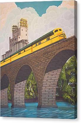 Stone Arch Bridge Canvas Print by Jude Labuszewski