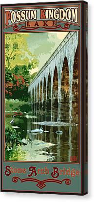 Stone Arch Bridge Possum Kingdom Canvas Print by Jim Sanders