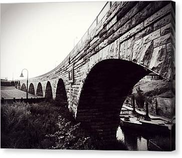 Stone Arch Bridge Canvas Print by Zinvolle Art
