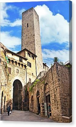 Stone Arch De Becci De Cuganesi Tower Canvas Print by Miva Stock