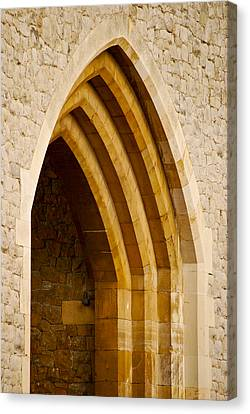 Stone Archway At Tower Hill Canvas Print by Christi Kraft