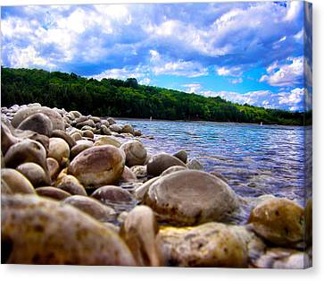 Stone Beach Canvas Print