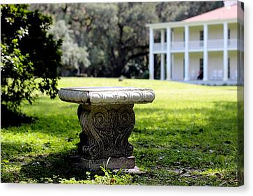 Stone Bench Canvas Print by William Tucker
