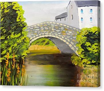 Stone Bridge At Burrowford Uk Canvas Print