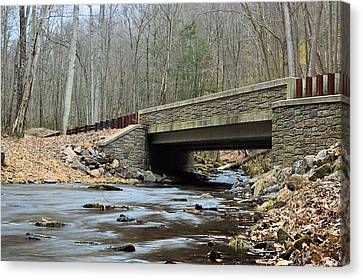 Stone Bridge At Cherry Run #1 - Bald Eagle State Forest Canvas Print