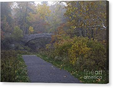 Stone Bridge In Autumn 3 Canvas Print