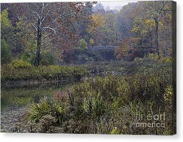 Stone Bridge In Autumn I Canvas Print