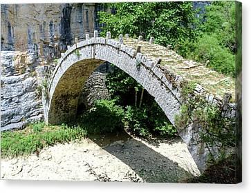Stone Bridge Zagori Greece Canvas Print by Photostock-israel