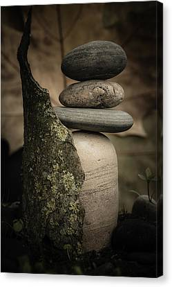 Stone Cairns IIi Canvas Print by Marco Oliveira