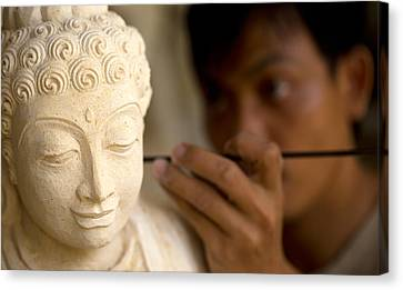 Stone Carver - Bali Canvas Print