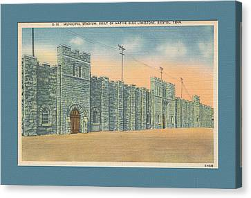 Stone Castle Bristol Tn Built By Wpa Canvas Print by Denise Beverly