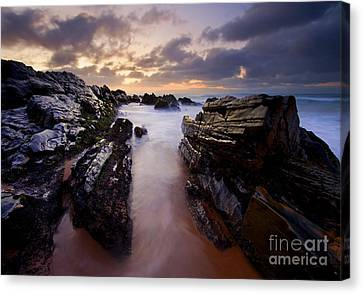 Stone Channel Canvas Print by Mike  Dawson