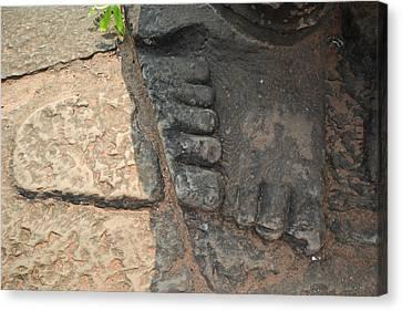 Stone Feet Cambodia Canvas Print by Bill Mock