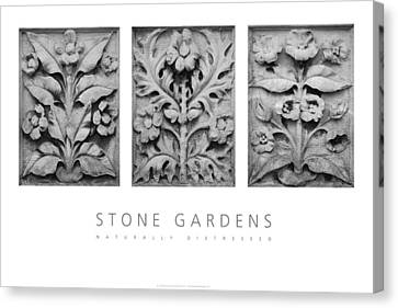Canvas Print featuring the digital art Stone Gardens 1 Naturally Distressed Poster by David Davies