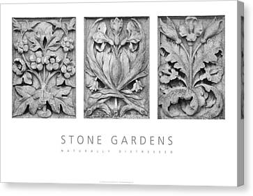 Canvas Print featuring the digital art Stone Gardens 2 Naturally Distressed Poster by David Davies