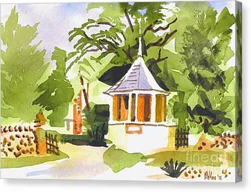 Stone Gazebo At The Maples Canvas Print by Kip DeVore