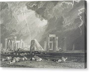 Stone Henge Canvas Print by Joseph Mallord William Turner
