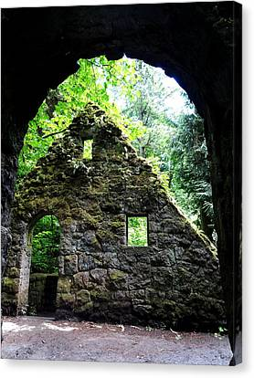 Stone House Doorway Canvas Print by Lizbeth Bostrom