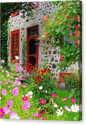 Stone House In The Country Canvas Print by Rick Todaro
