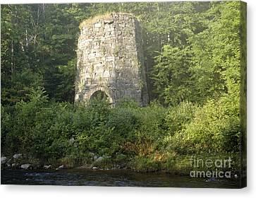 Stone Iron Furnace - Franconia New Hampshire Canvas Print by Erin Paul Donovan