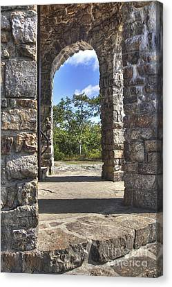 Stone Memorial  Canvas Print by Larry Braun