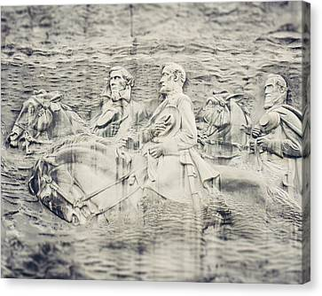 Stone Mountain Georgia Confederate Carving Canvas Print by Lisa Russo