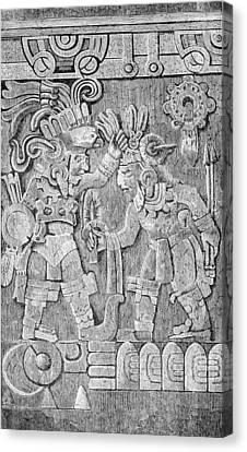 Stone Of Tizoc, Aztec Sacrificial Stone Canvas Print by British Library