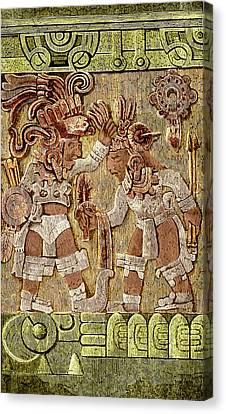 Stone Of Tizoc, Aztec Sacrificial Stone Canvas Print by Science Source