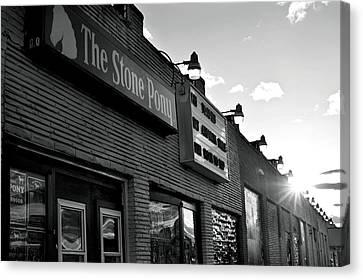 Stone Pony Asbury Park Side View Canvas Print by Terry DeLuco