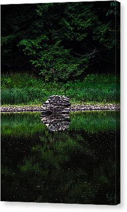 Stone Reflection Canvas Print