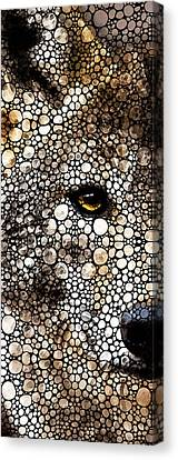 Timber Canvas Print - Stone Rock'd Wolf Art By Sharon Cummings by Sharon Cummings