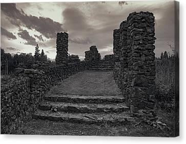 Stone Ruins At Old Liberty Park - Spokane Washington Canvas Print by Daniel Hagerman