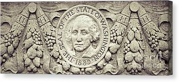 Stone Seal Of The State Of Washington Canvas Print
