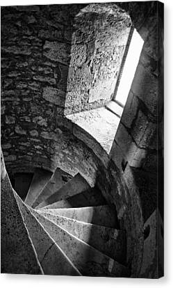 Stone Spiral Staircase Canvas Print by Georgia Fowler