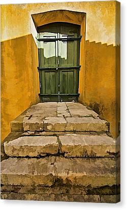 Stone Stair Entranceway  Canvas Print by David Letts