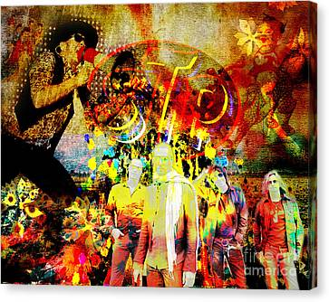 Stone Temple Pilots Original  Canvas Print by Ryan Rock Artist