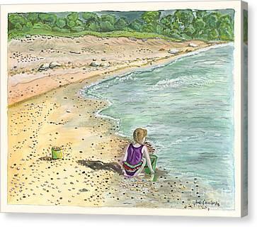 Stone Treasures Canvas Print by Janis  Cornish