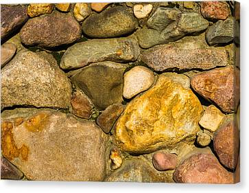 Stone Wall - Featured 3 Canvas Print by Alexander Senin