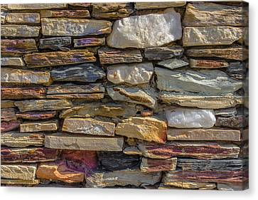 Stone Wall Canvas Print by Paul Donohoe
