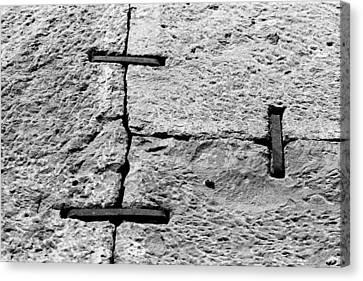 Stone Wall Support Canvas Print by Jagdish Agarwal