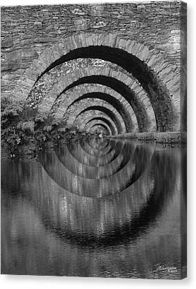 Stonearch Bridge  Black And White Canvas Print by EricaMaxine  Price