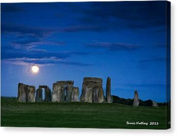 Stonehenge At Night Canvas Print