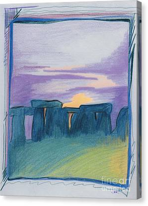 Stonehenge Blue By Jrr Canvas Print
