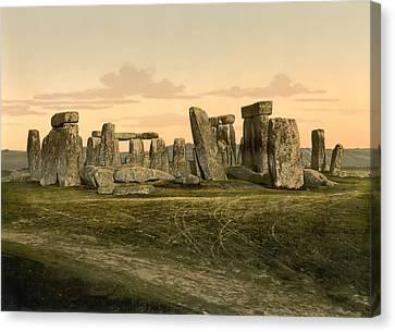 Stonehenge Circa 1895 Canvas Print