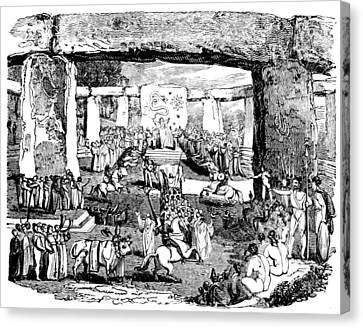 Stonehenge, Druid Festival Canvas Print by British Library