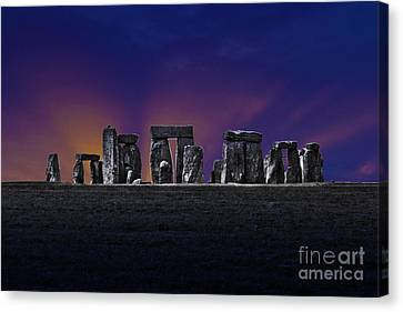 Canvas Print featuring the photograph Stonehenge Looking Moody by Terri Waters