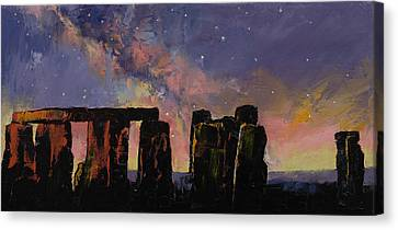 Wiltshire Canvas Print - Stonehenge by Michael Creese