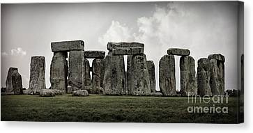 Wiltshire Canvas Print - Stonehenge -- Mood 2 by Stephen Stookey
