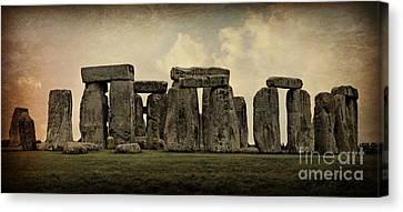 Amesbury Canvas Print - Stonehenge -- Mood 3 by Stephen Stookey